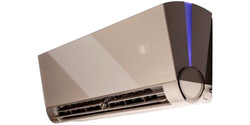 Fisher Art ( FSAIF-ART-92AE3-G / FSOAIF-ART-92AE3 ) 2,6 kW-os inverteres klíma, mono, oldalfali split klíma - beltéri egység