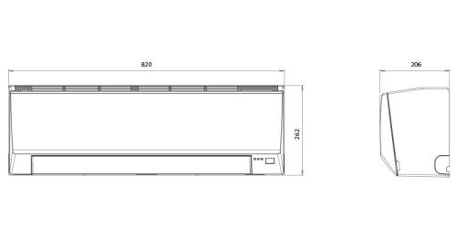 Fujitsu Eco R410A ( ASYG09LLCE / AOYG09LLCE ) 2,5 kW-os inverteres klíma, mono, oldalfali split klíma - beltéri egység