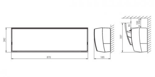 Fujitsu Design R410A ( ASYG12LTCA / AOYG12LTC ) 3,5 kW-os inverteres klíma, mono, oldalfali split klíma - beltéri egység