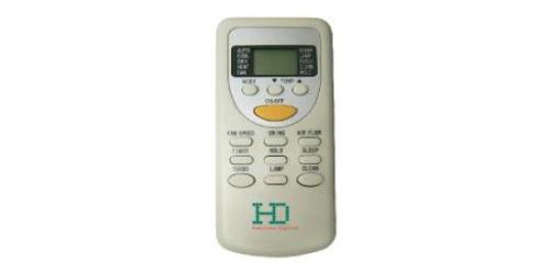 HD Design ( HDWI-DSGN-90C-GOLD / HDOI-DSGN-90C ) 2,5 kW-os inverteres klíma, mono, oldalfali split klíma - távirányító