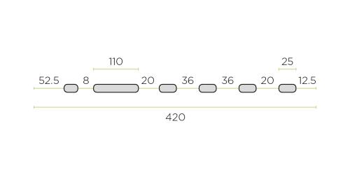 Klíma kültéri tartó konzol 420 mm-es ROZSDAMENTES / INOX