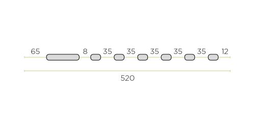 Klíma kültéri tartó konzol 520 mm-es ROZSDAMENTES / INOX