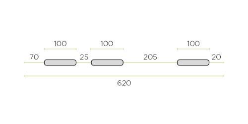 Klíma kültéri tartó konzol 620 mm-es ROZSDAMENTES / INOX